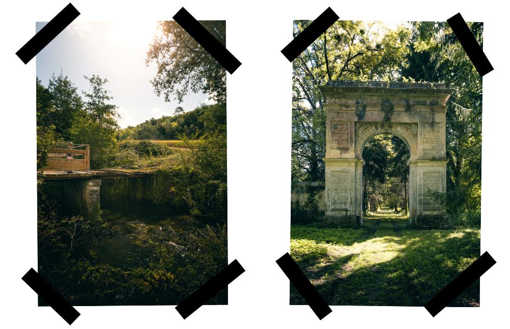 sentier de randonnée à Combiers, sud Charente