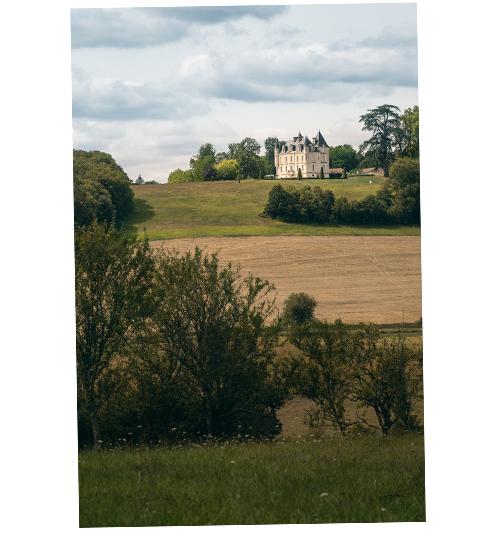 paysage du sud charente, Chateau de Lasfonds