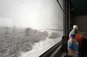 À bord du train, direction Pékin.