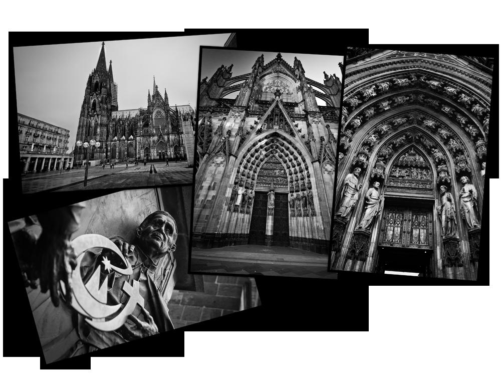la cathédrale de Cologne vue de l'extérieur