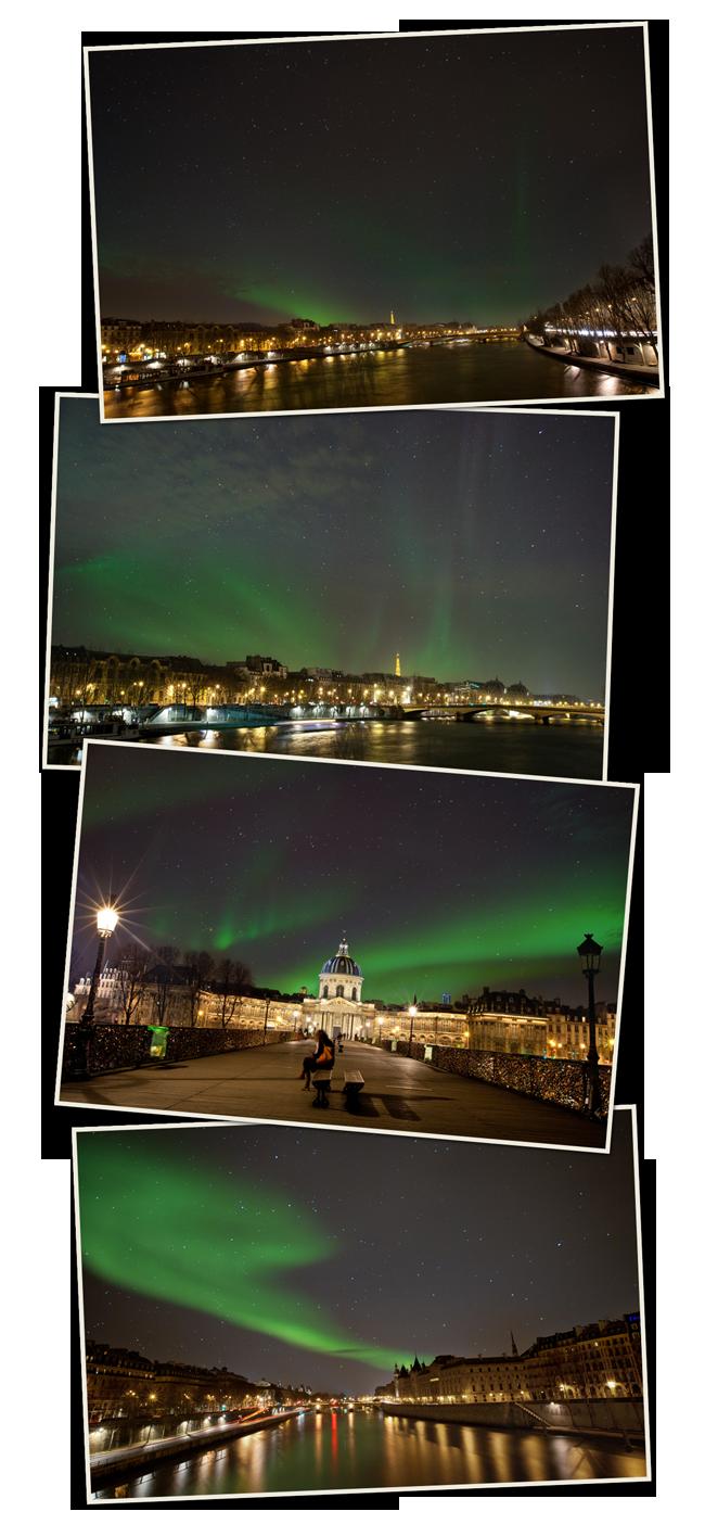 Photographier des aurores boréales à Paris
