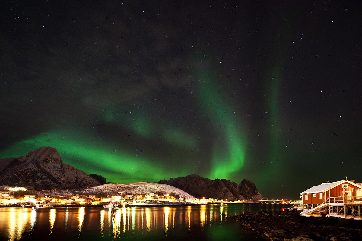 aurore boréale, norvège