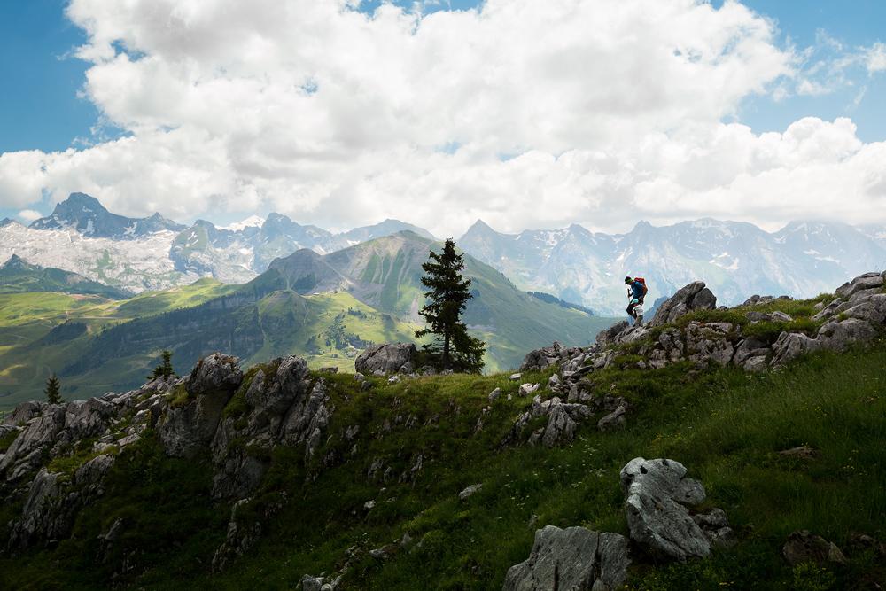 Randonnée depuis le Chinaillon avec vue sur le mont blanc