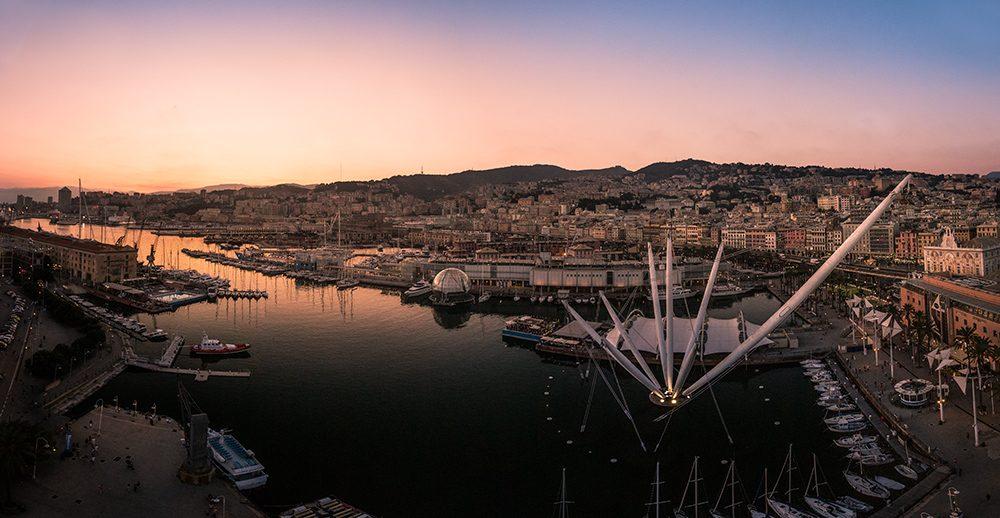 Port de Gênes : la grande roue