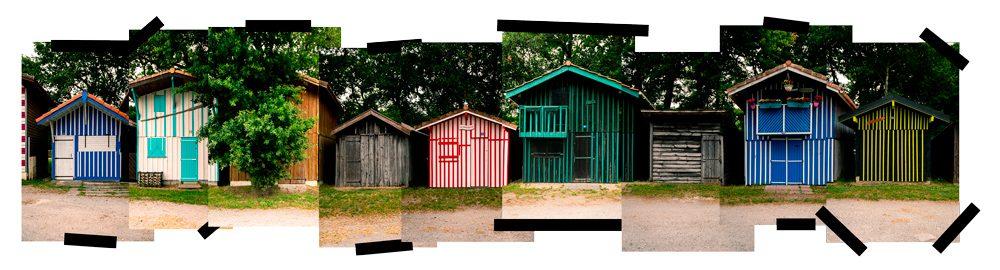 Les cabanes du port de Biganos