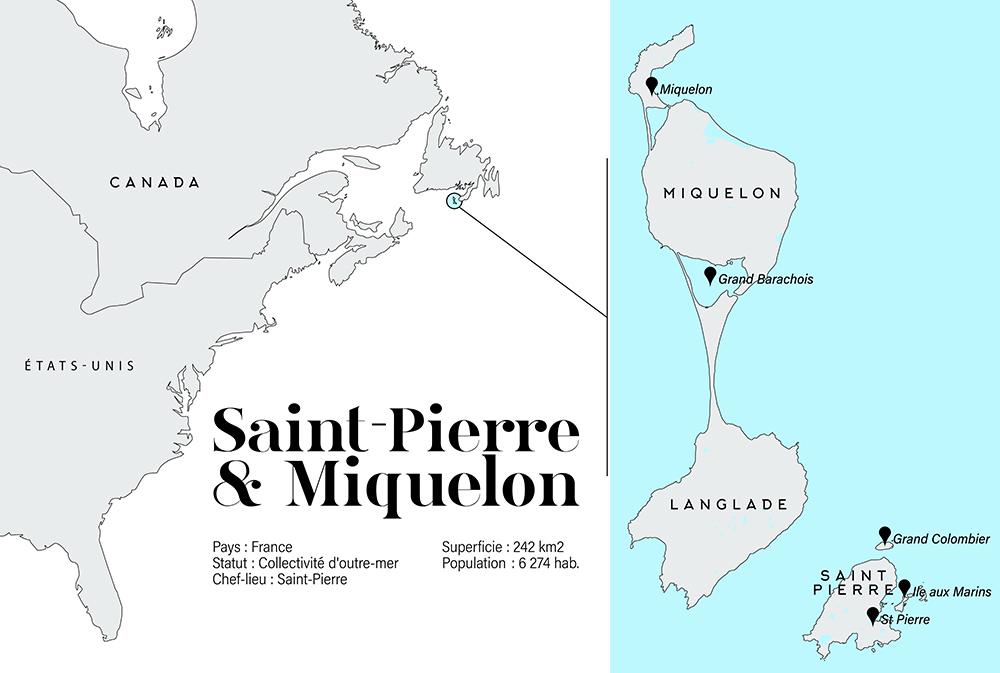 carte de l'archipel de Saint-Pierre et Miquelon