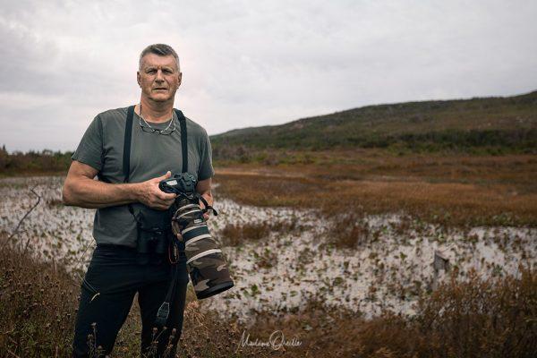 Photographe ornitho à Saint-Pierre