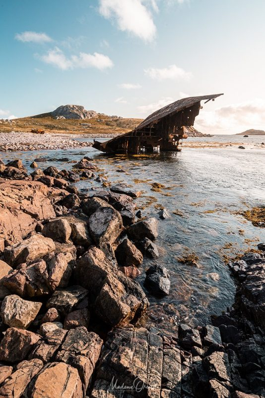 épave du Transpacific sur l'île aux marins