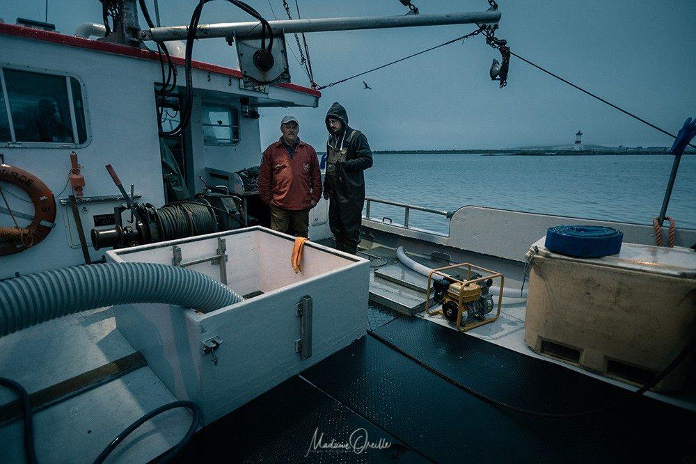Avant de vider la cuve du bateau
