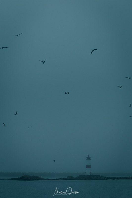 Phare de Saint-Pierre dans la brume