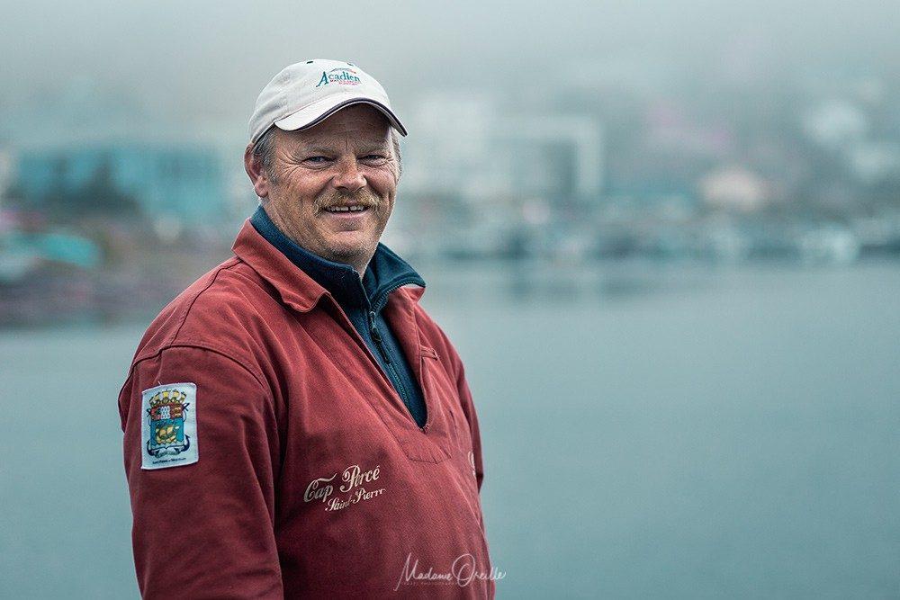 Gilles Poirier, pêcheur à Saint-Pierre