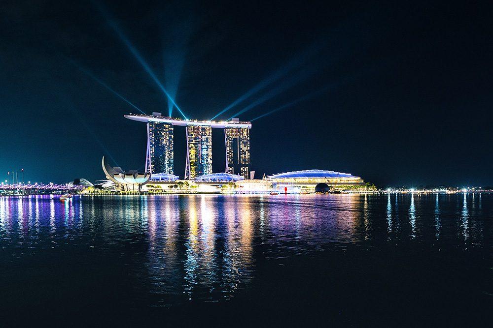 visite nocturne de Singapour pendant notre correspondance
