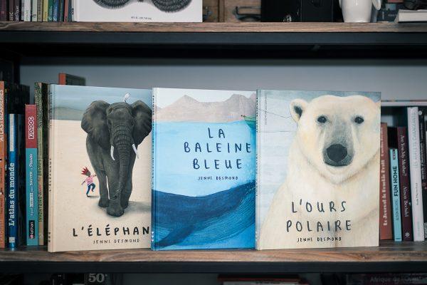Livres pour enfants : l'éléphant, baleine bleue, ours polaire, de Jenni Desmond