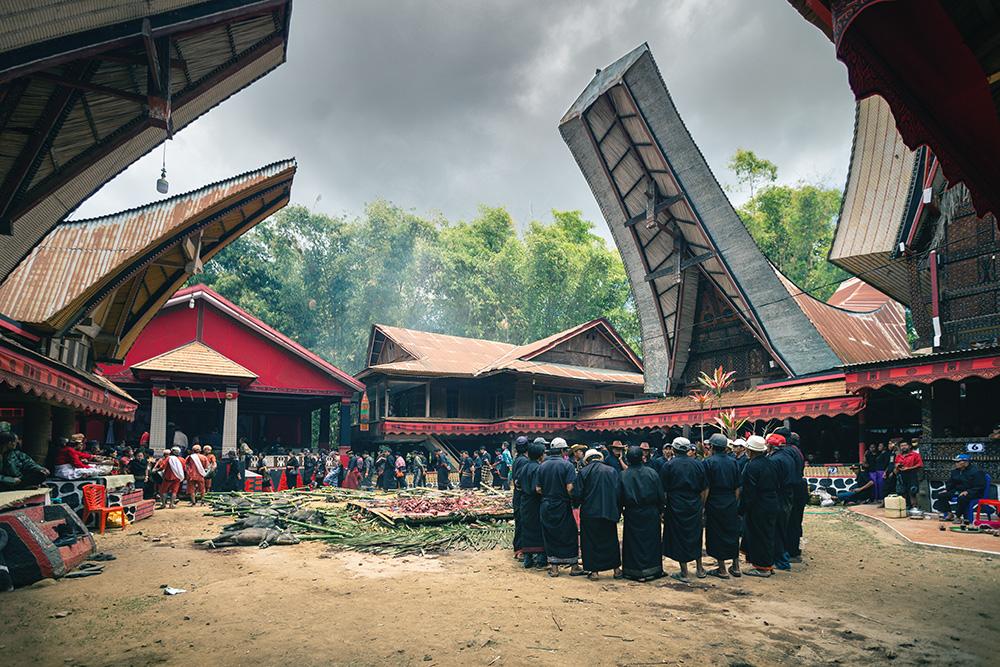 funérailles sous les tongkonan