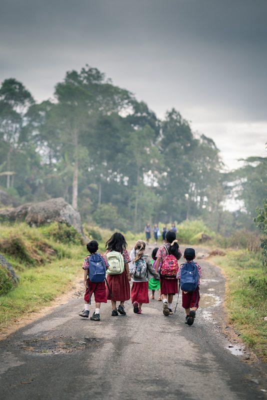 chemin vers l'école
