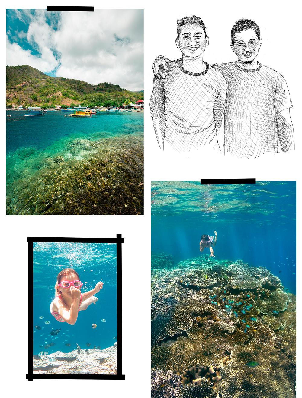 snorkeling à sulawesi : olele